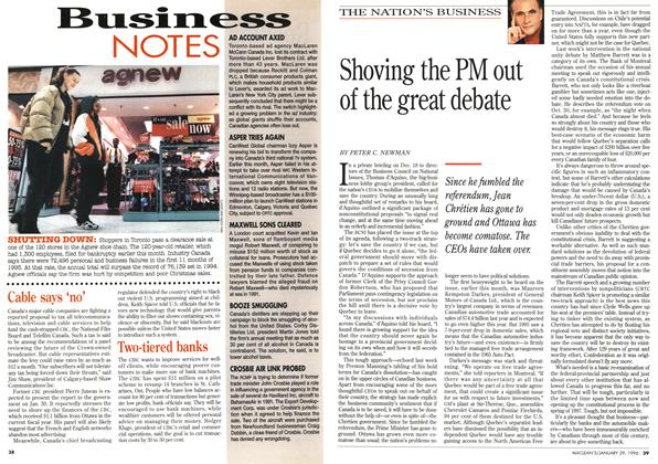 Article Preview: Shoving the PM out of the great debate, January 1996 | Maclean's