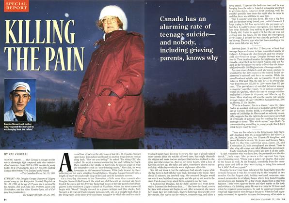 Article Preview: KILLING THE PAIN, January 1996 | Maclean's