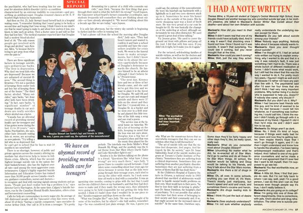 Article Preview: 'I HAD A NOTE WRITTEN', January 1996 | Maclean's