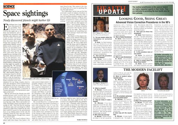 Article Preview: Space sightings, January 1996 | Maclean's