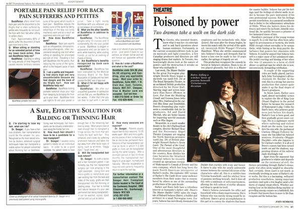 Article Preview: Poisoned by power, January 1996 | Maclean's
