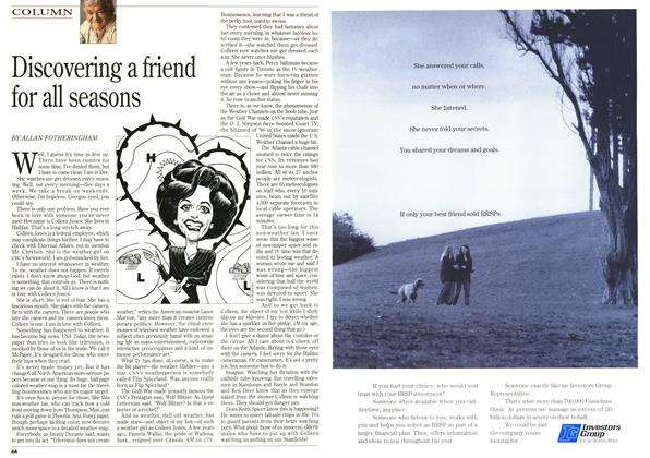 Article Preview: Discovering a friend for all seasons, January 1996 | Maclean's