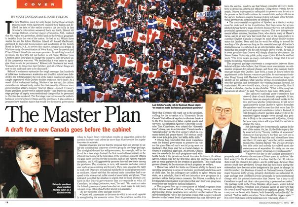 Article Preview: The Master Plan, February 1996 | Maclean's