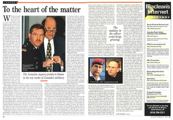 Article Preview: To the heart of the matter, February 1996 | Maclean's