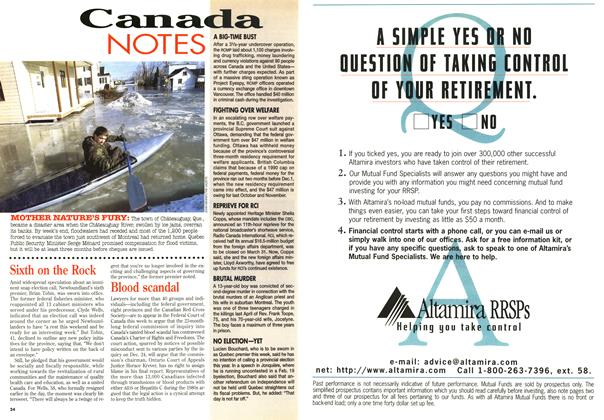 Article Preview: Canada Notes, February 1996   Maclean's