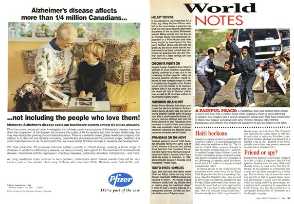Article Preview: World NOTES, February 1996 | Maclean's