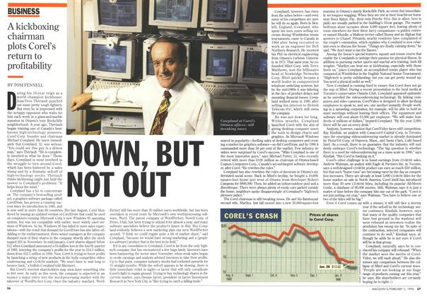 Article Preview: DOWN,BUT NOT OUT, February 1996 | Maclean's