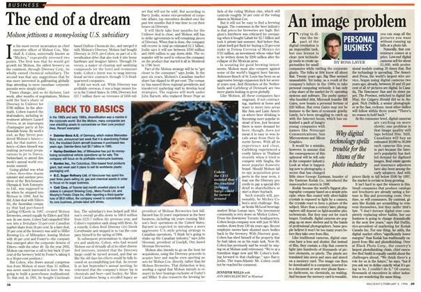 Article Preview: The end of a dream, February 1996 | Maclean's