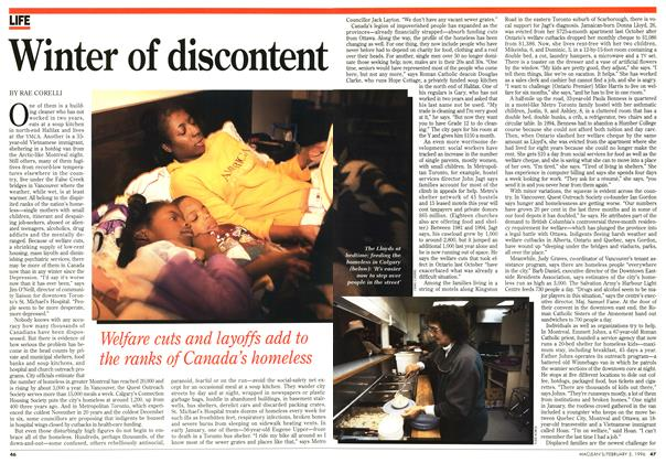 Article Preview: Winter of discontent, February 1996   Maclean's