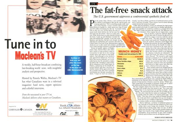 Article Preview: The fat-free snack attack, February 1996 | Maclean's