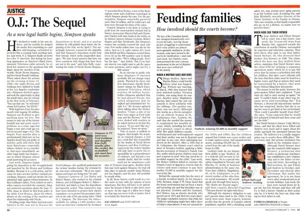 Article Preview: O.J.: The Sequel, February 1996 | Maclean's