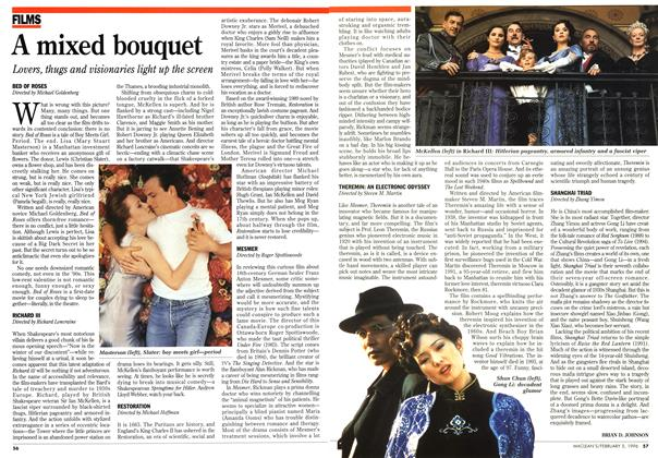 Article Preview: A mixed bouquet, February 1996 | Maclean's