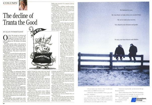 Article Preview: The decline of Tranta the Good, February 1996 | Maclean's