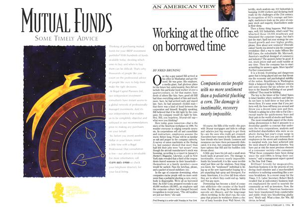 Article Preview: Working at the office on borrowed time, February 1996 | Maclean's