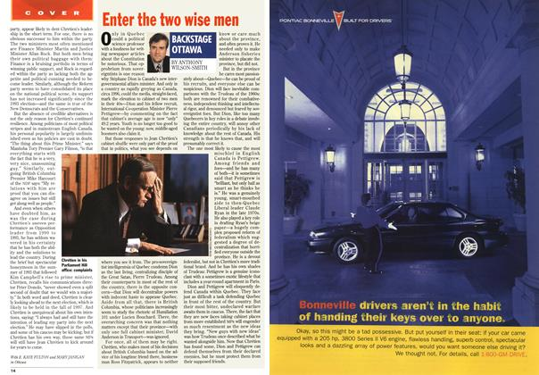 Article Preview: Enter the two wise men, February 1996 | Maclean's