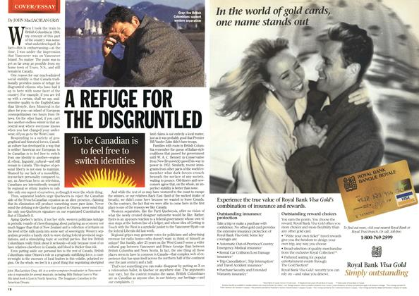 Article Preview: A REFUGE FOR THE DISGRUNTLED, February 1996 | Maclean's