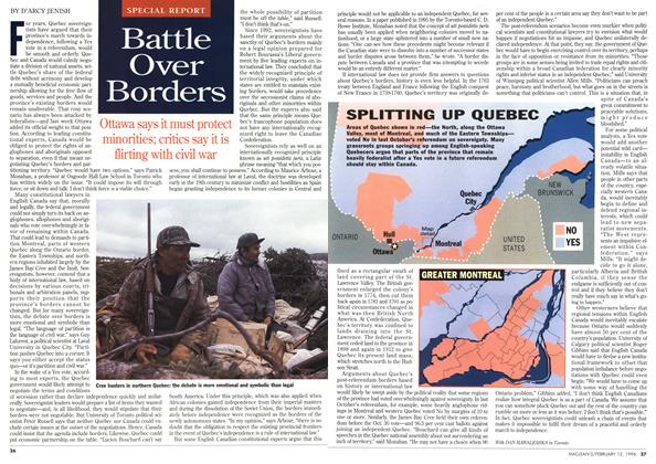 Article Preview: Battle Over Borders, February 1996 | Maclean's