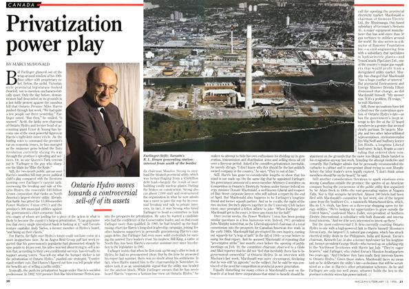 Article Preview: Privatization power play, February 1996 | Maclean's