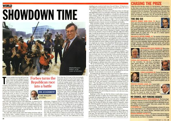 Article Preview: SHOWDOWN TIME, February 1996 | Maclean's