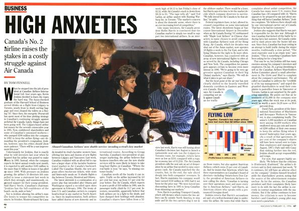 Article Preview: HIGH ANXIETIES, February 1996 | Maclean's