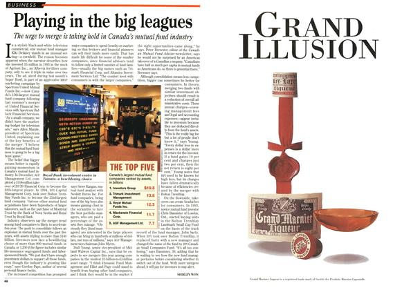 Article Preview: Playing in the big leagues, February 1996 | Maclean's