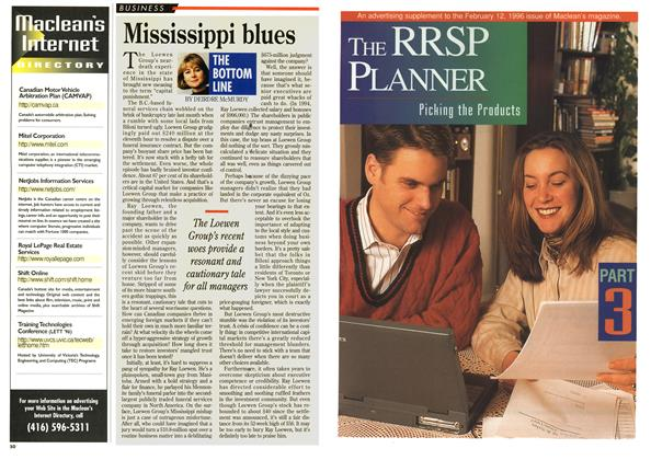 Article Preview: Mississippi blues, February 1996 | Maclean's