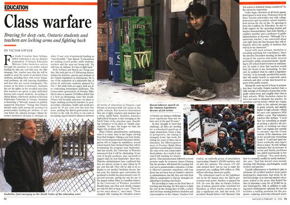 Article Preview: Class warfare, February 1996 | Maclean's