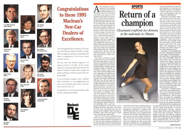 Article Preview: Return of a champion, February 1996 | Maclean's