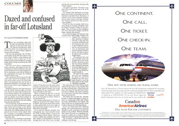 Article Preview: Dazed and confused in far-off Lotusland, February 1996 | Maclean's