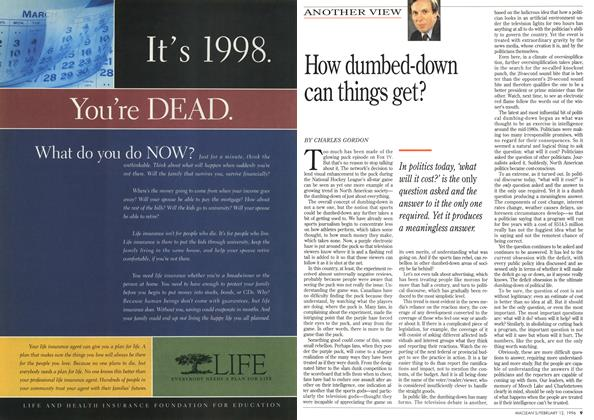 Article Preview: How dumbed-down can things get?, February 1996 | Maclean's