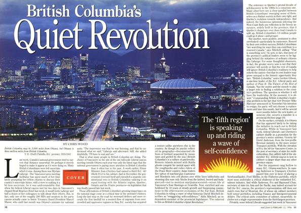 Article Preview: British Columbia's Quiet Revolution, February 1996 | Maclean's