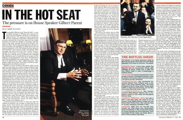 Article Preview: IN THE HOT SEAT, February 1996 | Maclean's