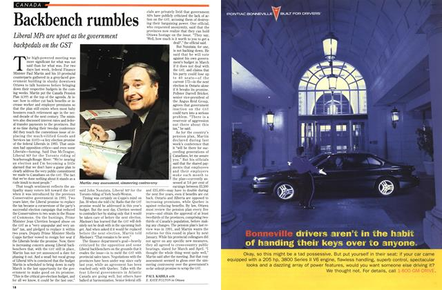 Article Preview: Backbench rumbles, February 1996 | Maclean's