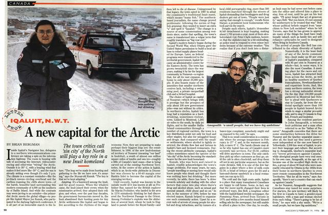 Article Preview: A new capital for the Arctic, February 1996 | Maclean's