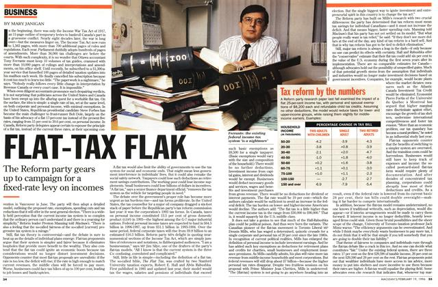 Article Preview: FLAT-TAX FLAK, February 1996 | Maclean's