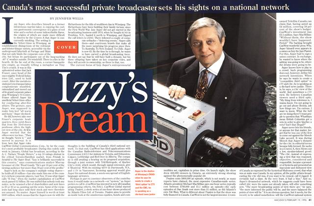 Article Preview: Izzy's Dream, February 1996 | Maclean's