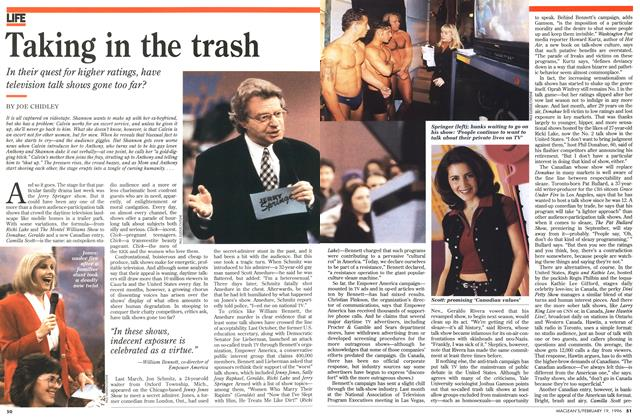 Article Preview: Taking in the trash, February 1996 | Maclean's