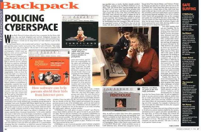 Article Preview: POLICING CYBERSPACE, February 1996 | Maclean's