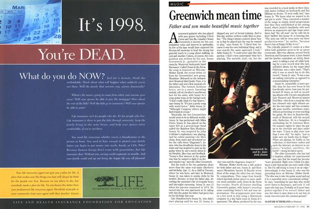 Article Preview: Greenwich mean time, February 1996 | Maclean's