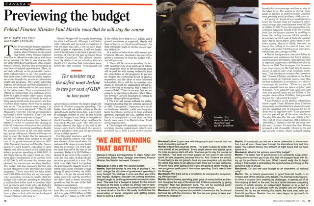 Article Preview: 'WE ARE WINNING THAT BATTLE', February 1996 | Maclean's