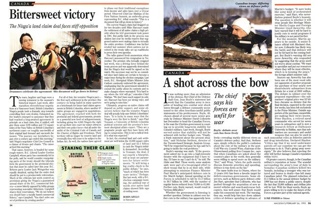 Article Preview: Bittersweet victory, February 1996 | Maclean's