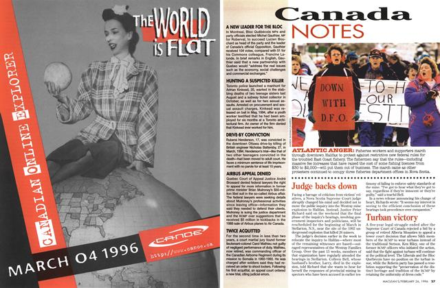 Article Preview: Canada NOTES, February 1996 | Maclean's