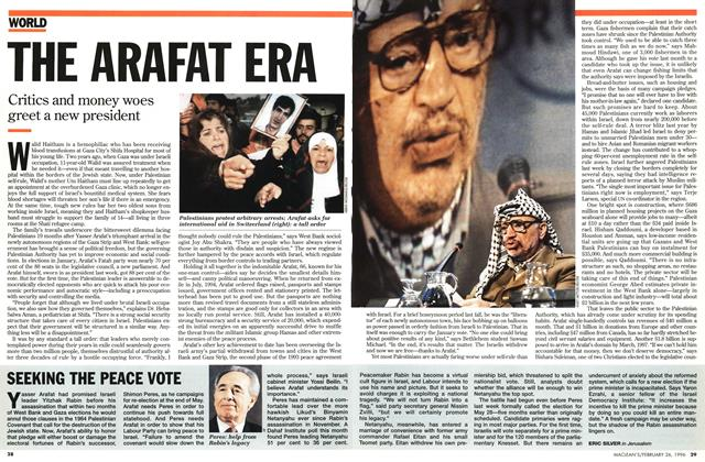 Article Preview: THE ARAFAT ERA, February 1996 | Maclean's