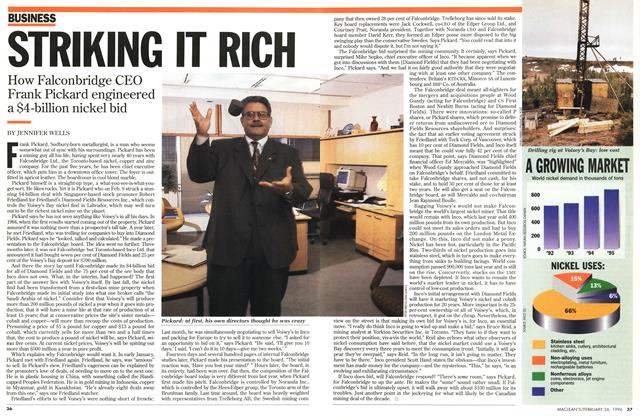 Article Preview: STRIKING IT RICH, February 1996 | Maclean's