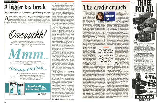 Article Preview: The credit crunch, February 1996 | Maclean's