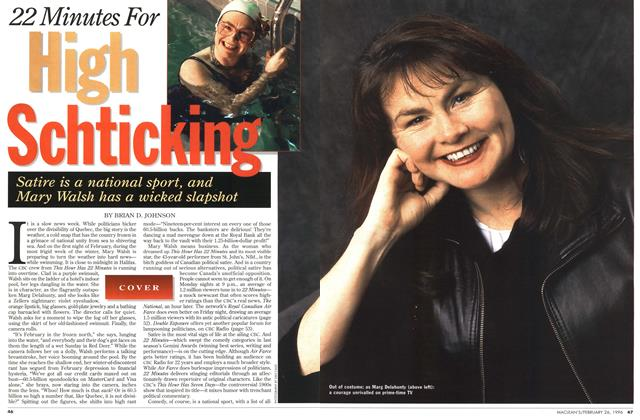 Article Preview: 22 Minutes For High Schticking, February 1996 | Maclean's
