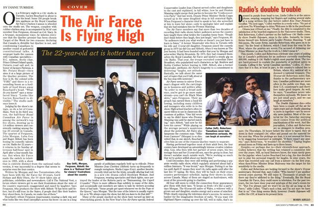 Article Preview: Radio's double trouble, February 1996 | Maclean's