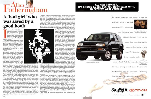 Article Preview: A 'bad girl' who was saved by a good book, February 1996 | Maclean's