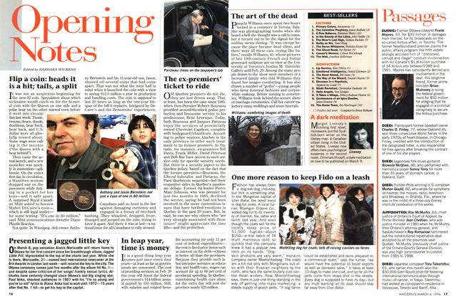 Article Preview: Passages, March 1996 | Maclean's