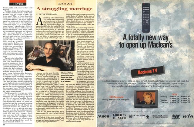 Article Preview: A struggling marriage, March 1996 | Maclean's